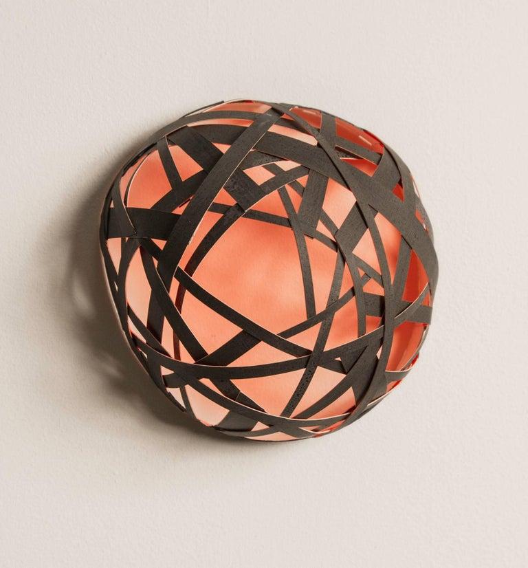 Joan Grubin, Little Dome, 2017, Paper, Acrylic Paint - Op Art Sculpture by Joan Grubin
