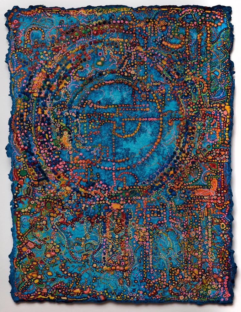 David Ambrose, Pavlopetri, 2017, Watercolor Gouache, Handmade Paper