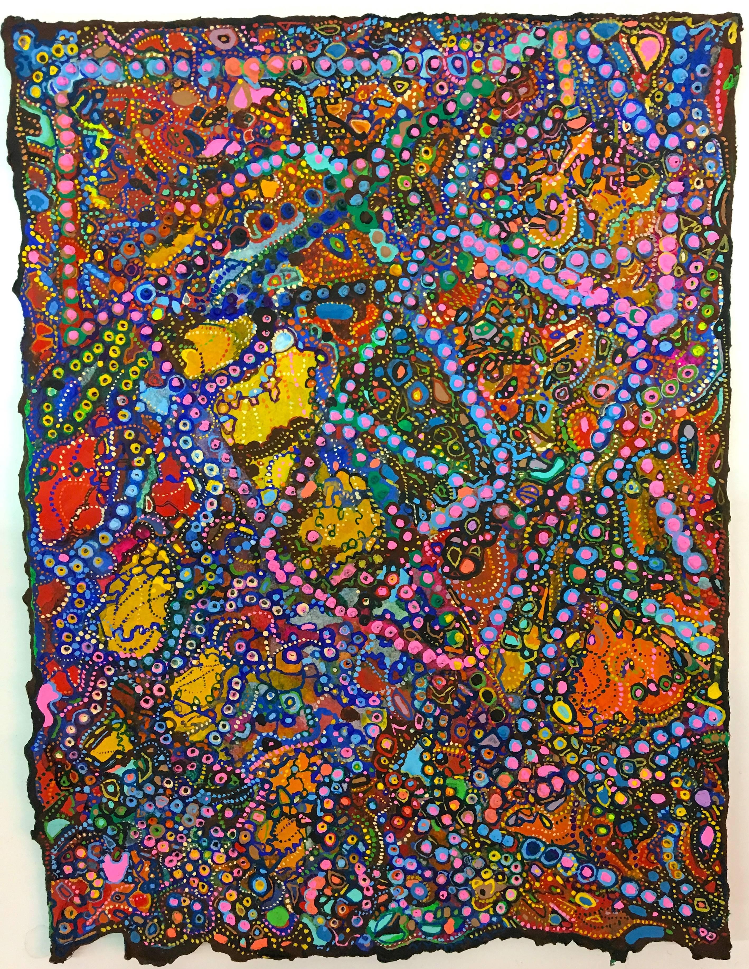 David Ambrose, Modular Stipple, 2017, Watercolor, Gouache, Handmade Paper