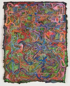 David Ambrose, Tropical Revival, 2017, Watercolor, Gouache, Handmade Paper