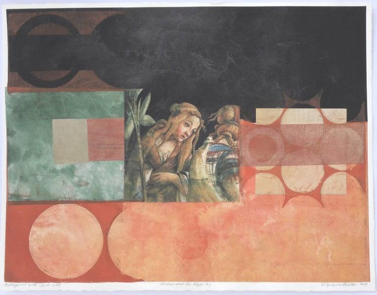 Suzanne Benton, Maiden and the Night, 2017, Monoprint - Print by Suzanne Benton