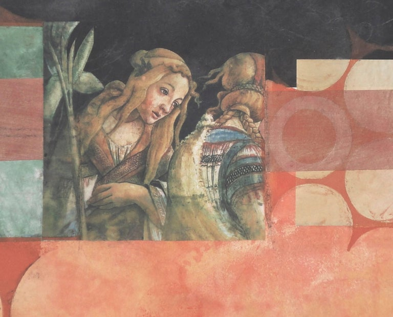 Suzanne Benton, Maiden and the Night, 2017, Monoprint - Symbolist Print by Suzanne Benton
