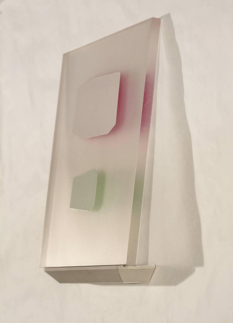 Steven Baris, Ruse Of Transparency 13, 2014, plexiglass, acrylic paint - Abstract Geometric Painting by Steven Baris