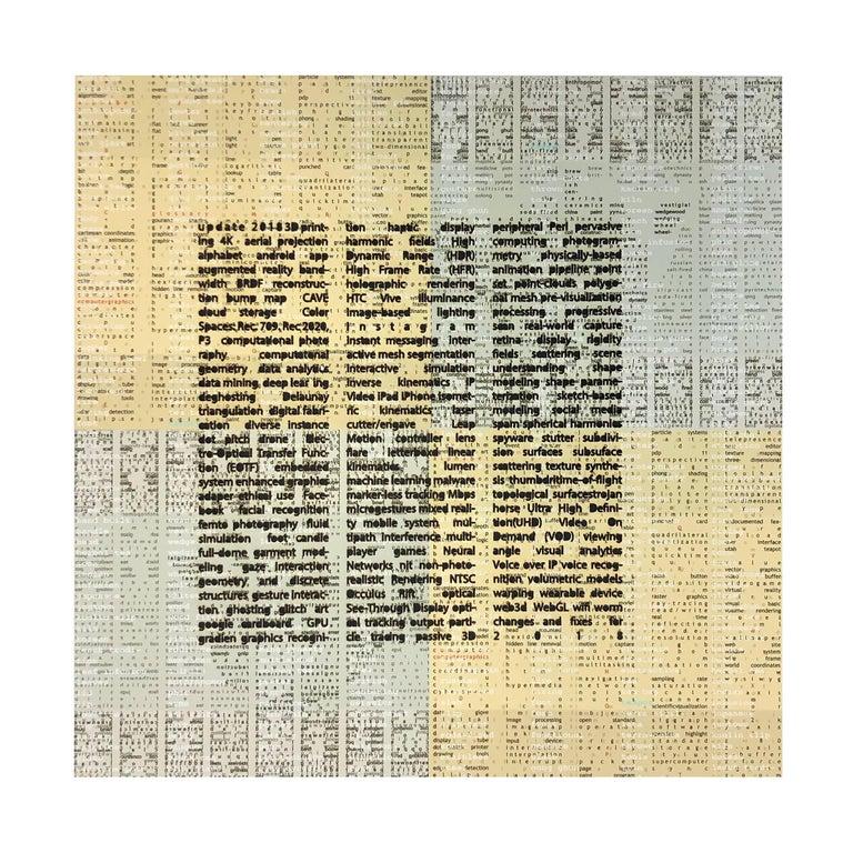 Copper Giloth, Alphabet Gestures, 11 Cut, 2018, archival inkjet print