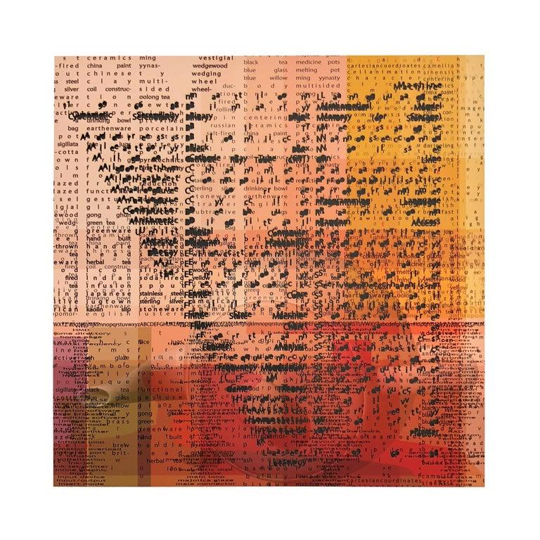 Copper Giloth, Alphabet Gestures, 21 Cut, 2018, archival inkjet print