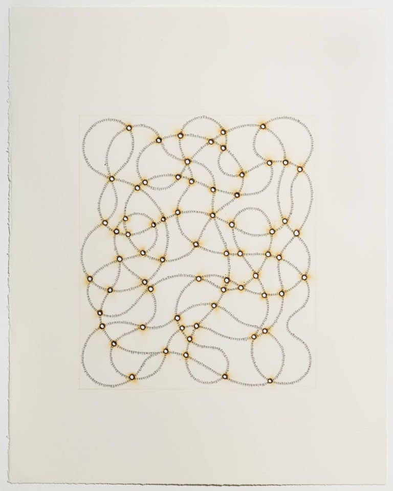 Meg Hitchcock, A Magical Spell for the Far Journey, 2018, Letters from Koran