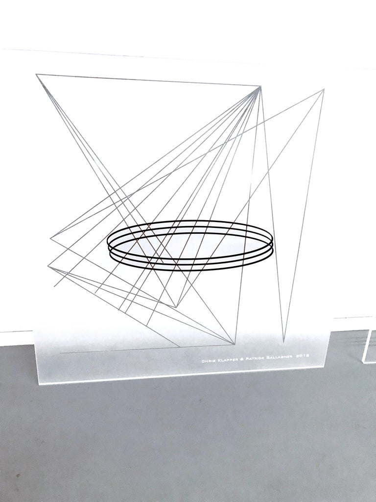 Klapper and Gallagher, Point, Line and Plane (Plexi Code Drawing 1), 2018