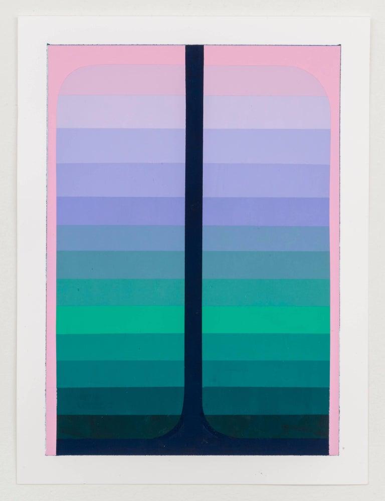 Audrey Stone, Double Pour, 2017, Acrylic Paint - Painting by Audrey Stone