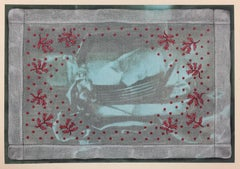 Lydia Viscardi, Coverup Hanky with Dotted Red on Aqua_2018_Altered digital print