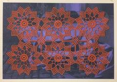 Lydia Viscardi, Coverup Orange on Blue_2018_Altered digital print