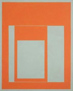 Elizabeth Gourlay, djorange, Minimalist Abstraction, flashe, 2017, 50 x 40 in
