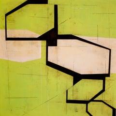 Steven Baris, Drift 13, 2018, Minimalist Abstraction, mylar, oil paint