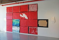 Sylvia Schwartz, 'Red Plane', 2016, Thread, Masonite, Acrylic Paint, Minimalist