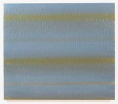 Ellen Kozak, Blue North, 2016, Minimalist, Gesso, Oil Paint, Wood Panel, 27 x 30