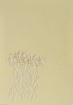 Liz Sweibel, Untitled (After Japan #7), 2017, Minimalist, Paper, Acrylic Paint