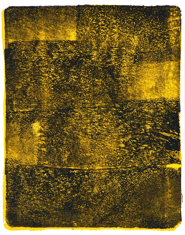 Anne Russinof, Arcs 43, 2016, Monotype, Acrylic, Archival Paper, Minimalist - Print by Anne Russinof