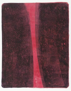 Anne Russinof, Arcs 81, 2015, Monotype, Acrylic, Archival Paper, Minimalist