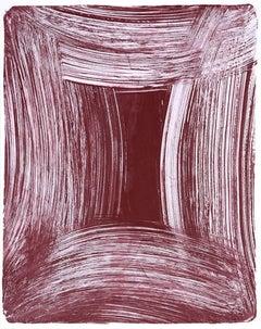 Anne Russinof, Arcs 10, 2016, Monotype, Acrylic, Archival Paper, Minimalist