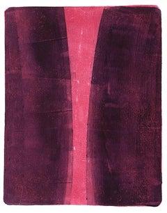 Anne Russinof, Arcs 34, 2016, Monotype, Acrylic, Archival Paper, Minimalist