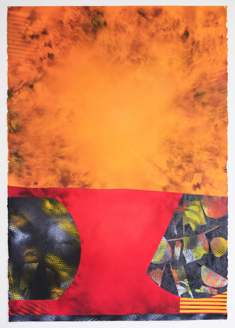 Jane Sangerman Abstract Painting - Sangerman_Digit49, 2016, Acrylic Spray Paint,Abstraction. Found Object.