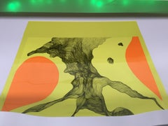 Deanna Lee, After Eagle Street: Color Forms (AESCF)-orange/yellow, 2018, collage