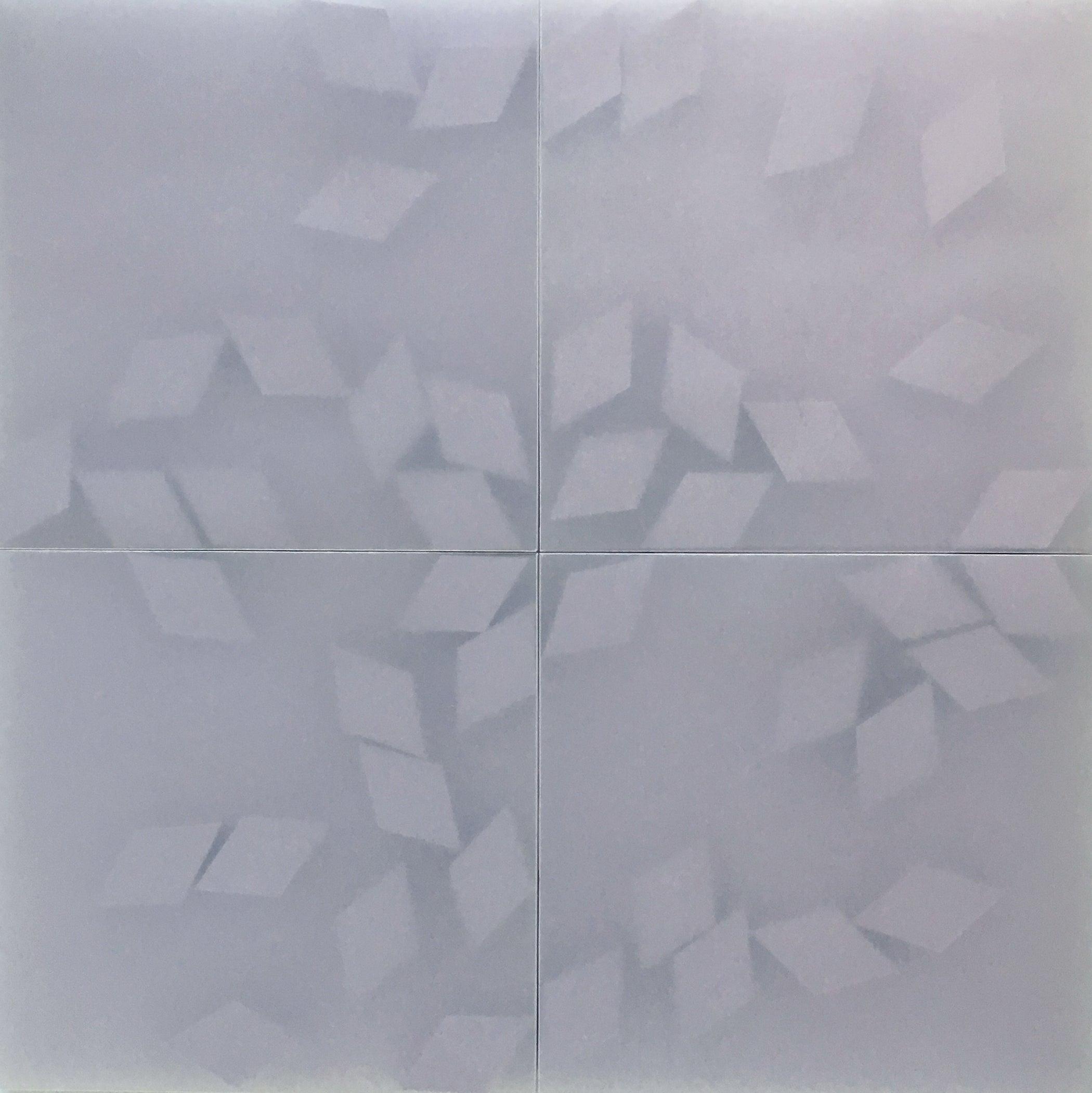 Norma Márquez Orozco, Purple Shapes, 2018, Translucent Paper, Minimalist, 31x31