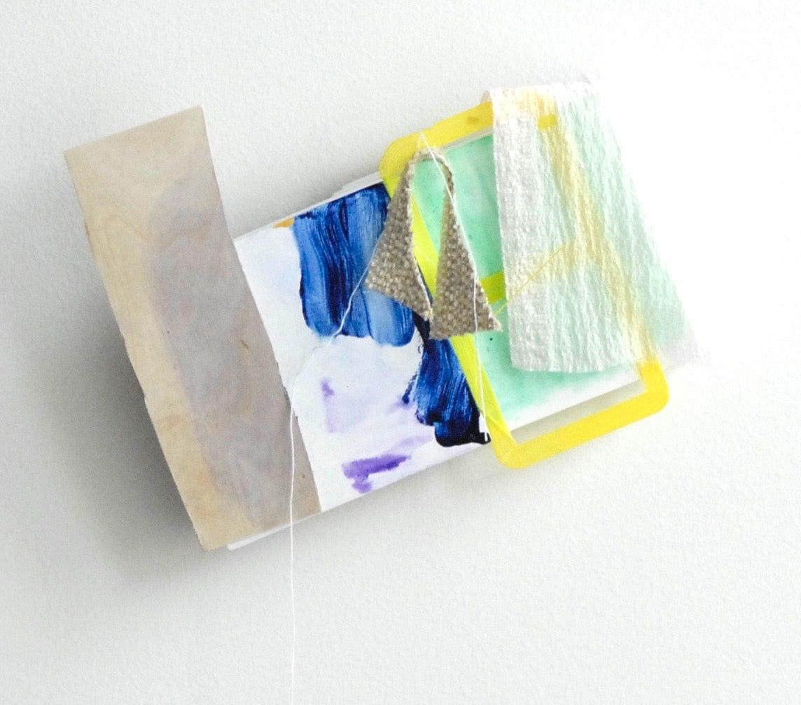 """Sylvia Schwartz, 5, 2018, wood, fabric, paint, 7"""" x 10"""" x 2"""""""