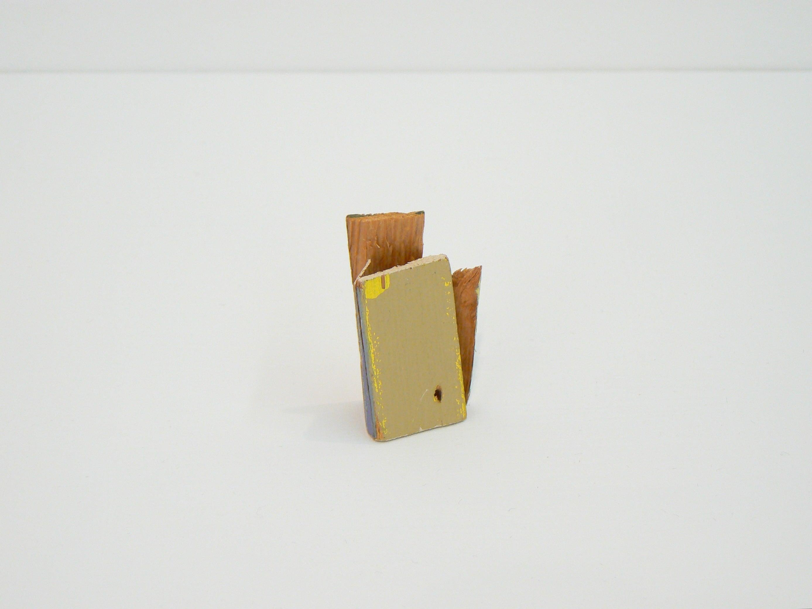 Liz Sweibel, Untitled (Scrapings #1), 2016, Wood, Paint, Found Objects