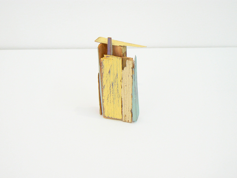 Liz Sweibel, Untitled (Scrapings #5), 2016, Wood, Paint, Found Objects