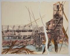 Linda Cunningham, 'Structural Transformations VII', 2014, Plaster, Pastel, Ink