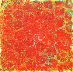 Ellen Hackl Fagan, Red/Green, 2011, Acrylic Polymer, Ink, Acrylic Paint