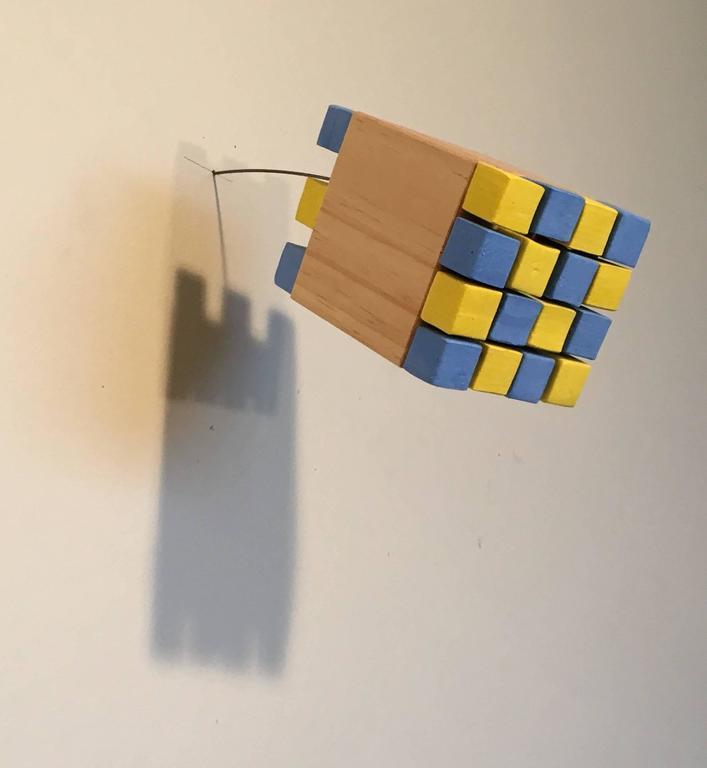 Suzan Shutan, Squared #2, 2015, wood, acrylic paint, wire