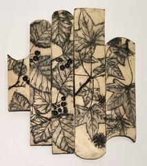 Susan Stair, Fall in Marcus Garvey Park, NYC, 2015, Stoneware, Glaze, Pigment