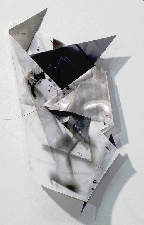 Gelah Penn, Polyglot #31, 2015, Plastic, Mylar, Wire, Metal, Acrylic Paint  - Sculpture by Gelah Penn