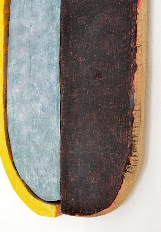 Jesse Hickman, Note Three Eight Sixteen, 2016, Enamel, Wood, Glue  - Brown Abstract Sculpture by Jesse Hickman
