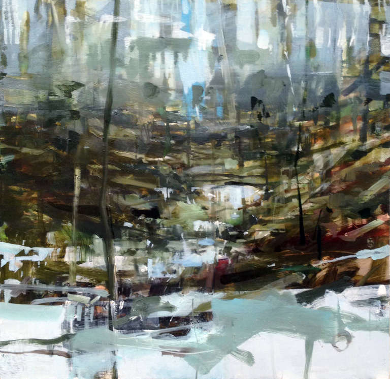 Alex Kanevsky Cold River Painting At 1stdibs
