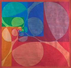 Untitled (Abstraction in Red, Blue, Green, and Orange)