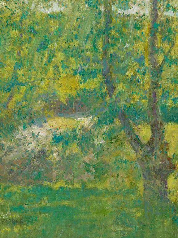 Lawton S. Parker Landscape Painting - Summer in Giverny