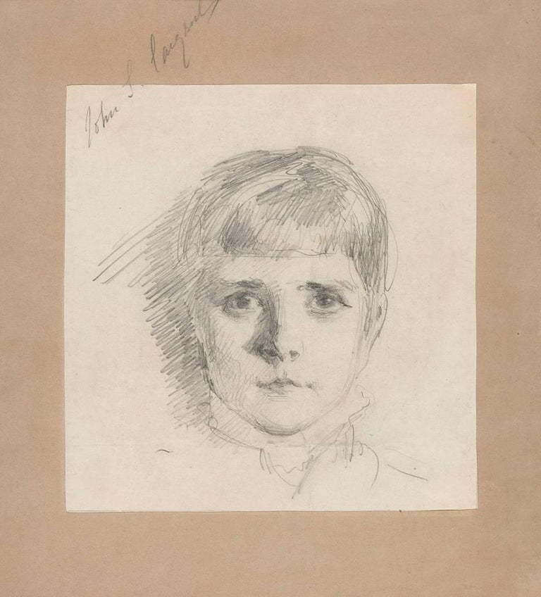John Singer Sargent - Head of a Young Girl 1