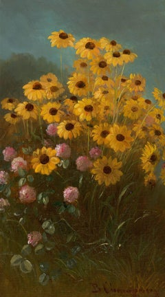 Still Life with Black-Eyed Susans and Clover