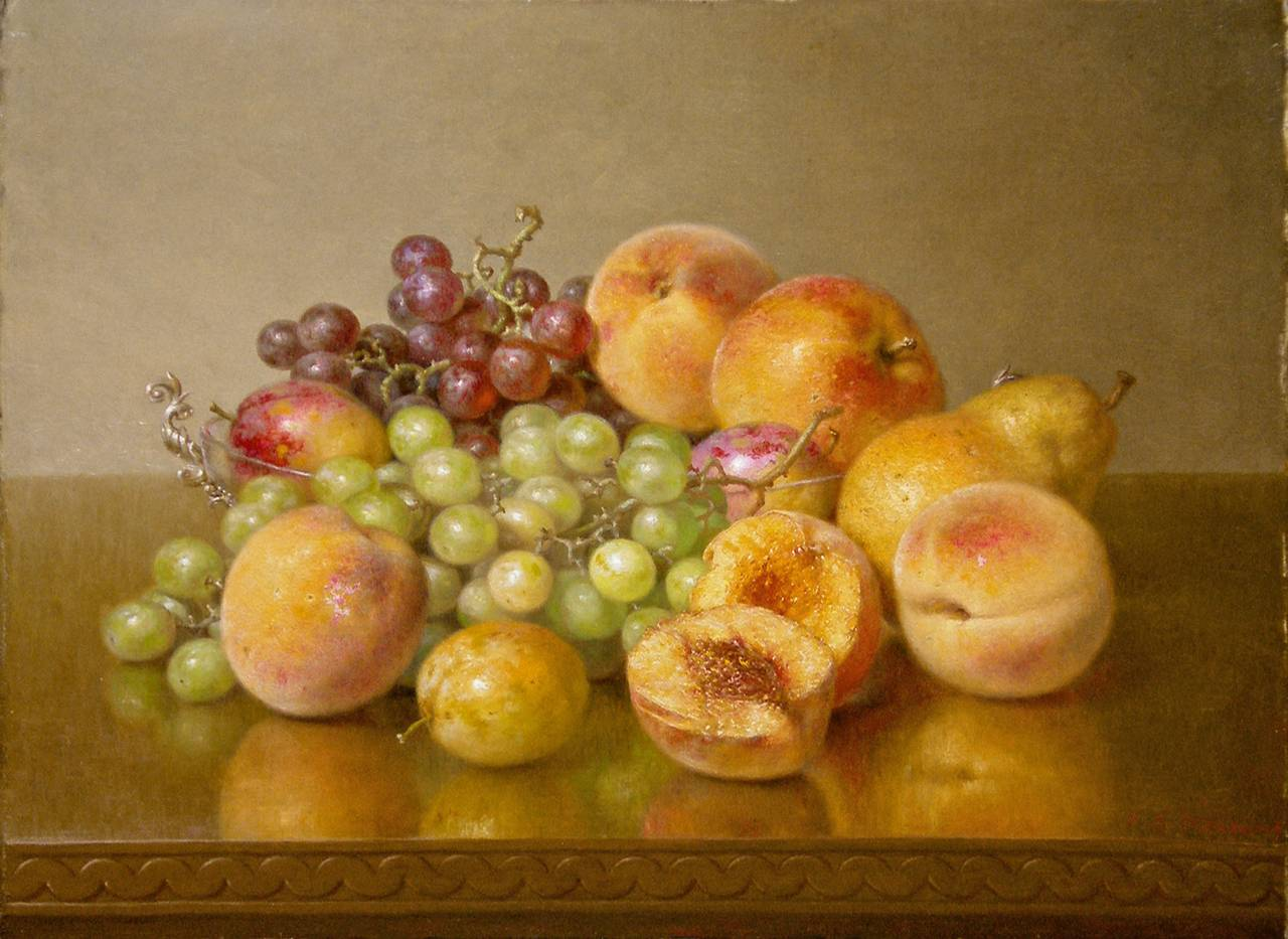 Robert Spear Dunning - Still Life with Fruit, Painting at ...
