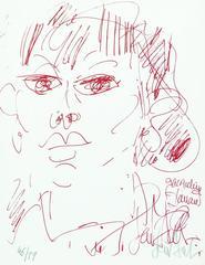 The portrait of the comedian Jacqueline Danaud