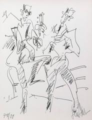 The duet : a guitar and a flutist
