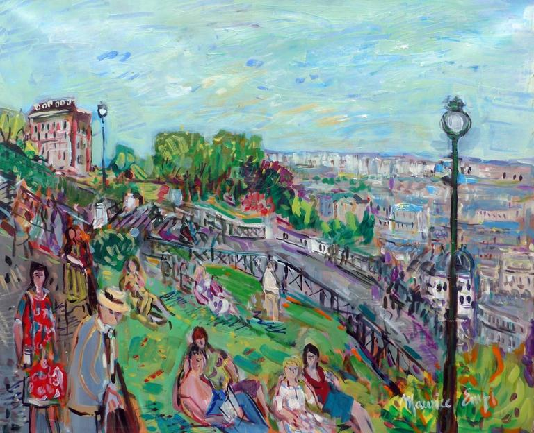 Montmartre, the garden of the Sacré-Coeur