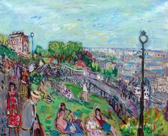Montmartre, the garden of the Sacré-Coeur