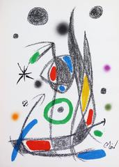 Abstract Composition in black blue red yellow purple orange and green, 1975