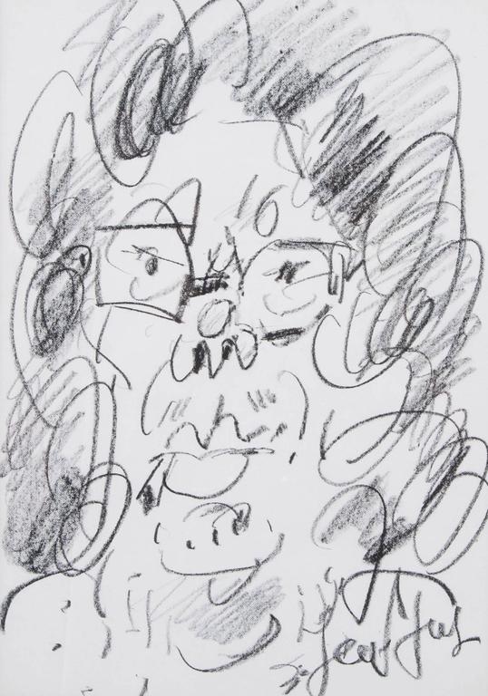Portrait of Marguerite Long with a cigarette