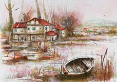 2 original lithographs - Landscape