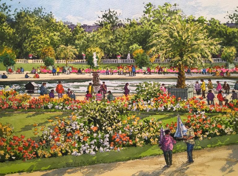 Jean charles decoudun le jardin du luxembourg paris for Le jardin luxembourg