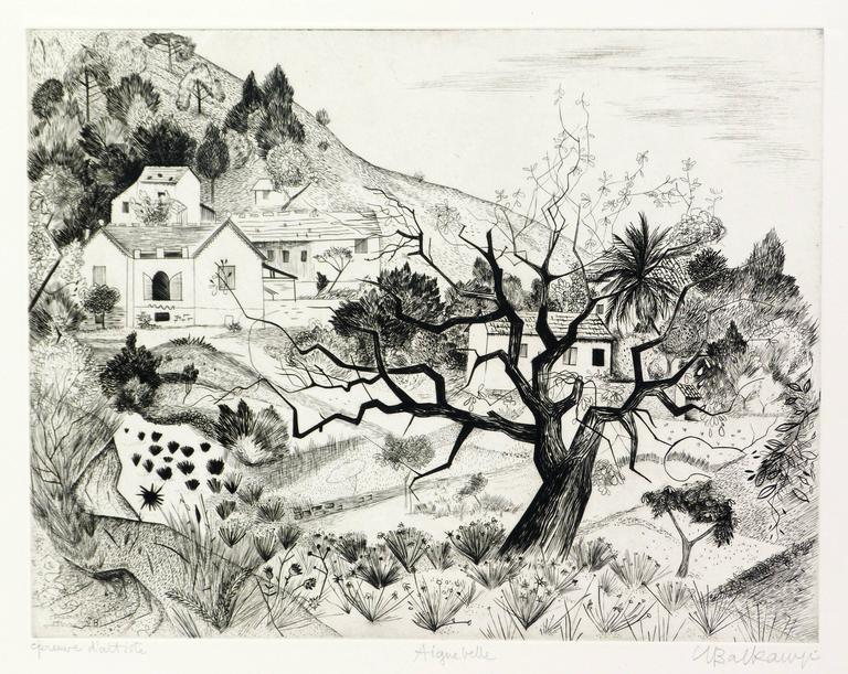 Suzanne Balkanyi - A view of Aiguebelle in Savoie, France 1